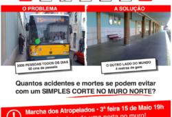 """Cartaz do Movimento Cívico Entrada Norte exemplo de convivência entre o """"físico"""" e o digital"""