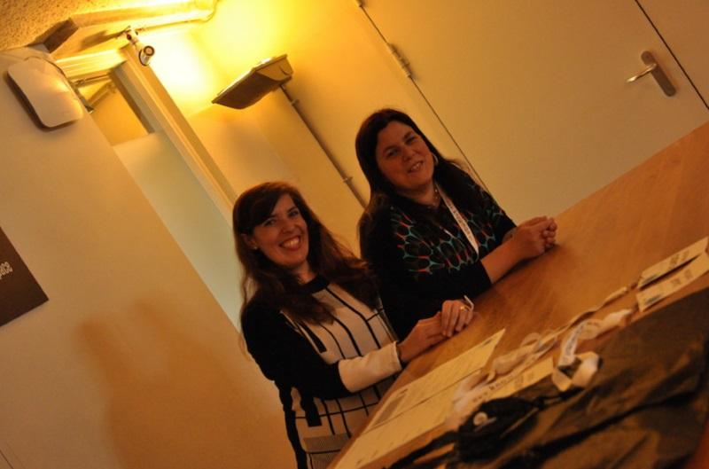 Daniela Azevedo e Ana Neves no Social Now de 2015 - Amesterdão
