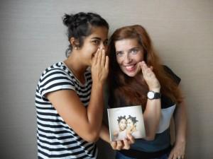 Da Chick com Daniela Azevedo nas instalações da Media Capital Rádios