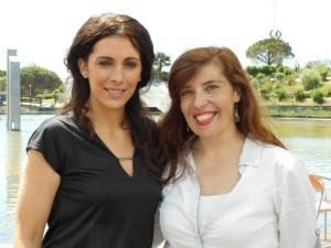 Cláudia Franco e Daniela Azevedo no café Linha d'Água, Lisboa