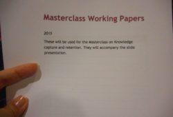 Masterclass Knowledge Retention