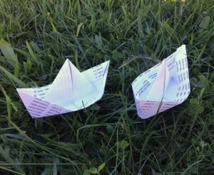 Barquinhos de papel