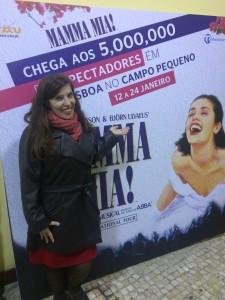 """Musical """"Mamma Mia"""" dos Abba no Campo Pequeno, em Lisboa, janeiro de 2016"""
