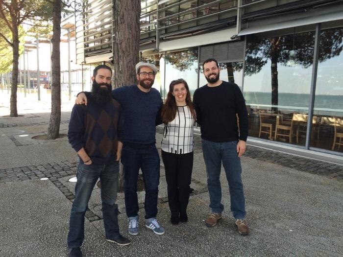 Os Anaquim com Daniela Azevedo antes dos concertos do Porto e de Coimbra