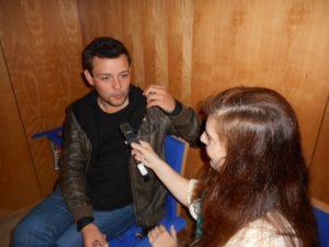 André Viamonte com Daniela Azevedo a propósito do lançamento do álbum de estreia