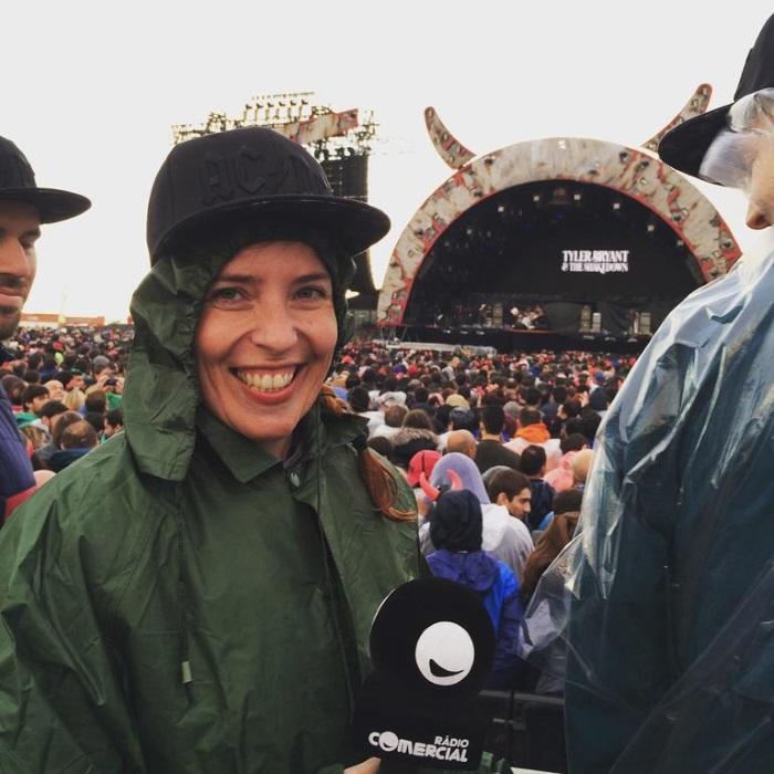 Daniela Azevedo no concerto dos AC/DC a 07 de maio de 2016, em Algés