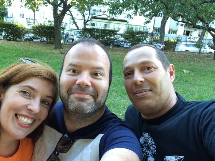Daniela Azevedo com Luís Miguel e Miguel Ros Rio em Lisboa