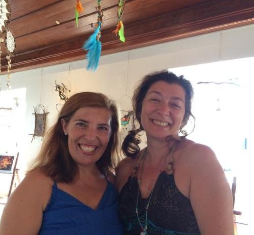 Daniela Azevedo e Elisabete Mália na exposição Natureza com Arte patente até 30 de setembro em Arruda dos Vinhos