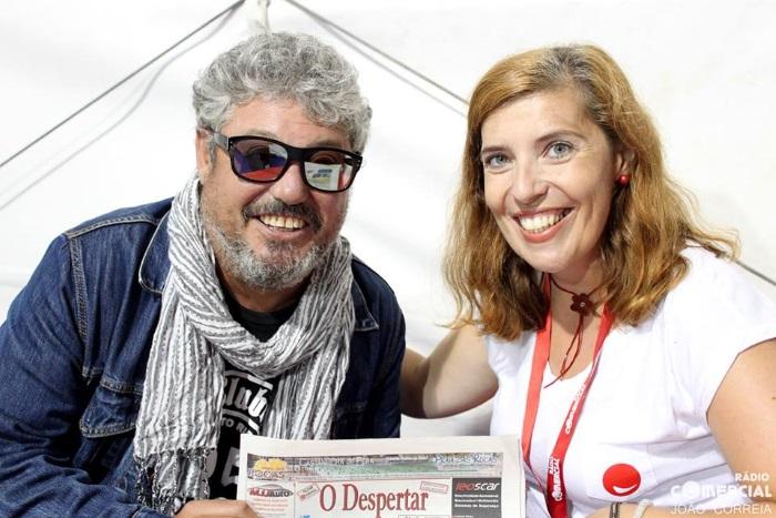 Tim com Daniela Azevedo para a Rádio Comercial na Expofacic 2016