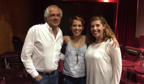 Tozé Brito, Ana Gomes e Daniela Azevedo no auditório da Sociedade Portuguesa de Autores, em Lisboa