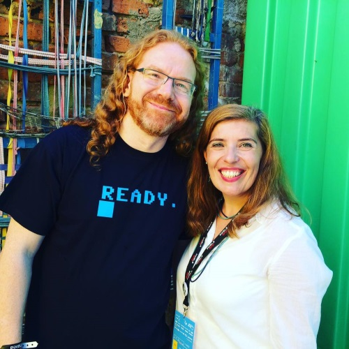 Chris Heilmann e Daniela Azevedo no Pixels Camp 2016