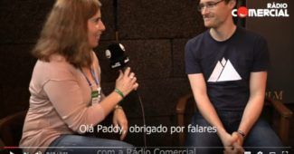 Paddy Cosgrave em entrevista à Rádio Comercial