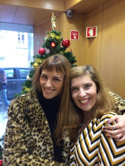 Marta Ren e Daniela Azevedo na Smooth FM no início de 2017