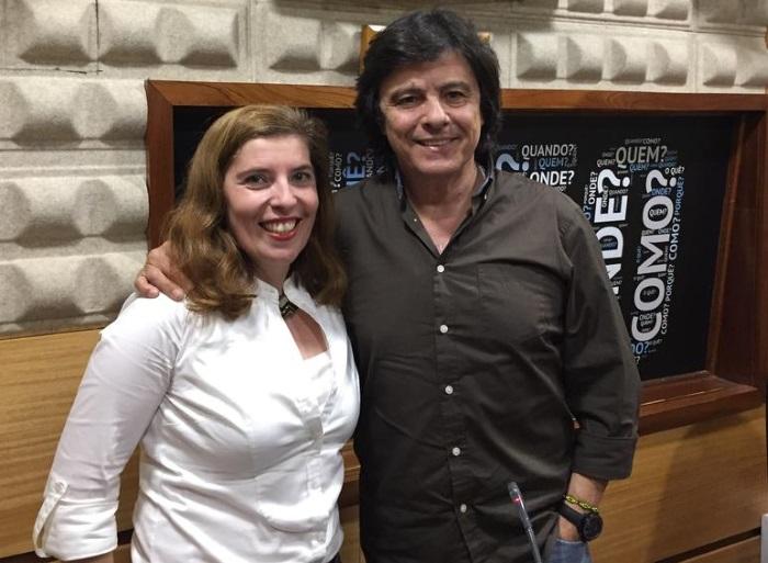 Daniela Azevedo e Luís Represas antes do concerto de Elvas em abril de 2017