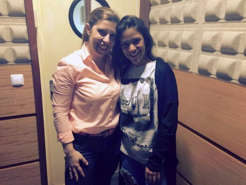 Daniela Azevedo e Raquel Tavares dias antes da sua estreia em nome próprio nos Coliseus