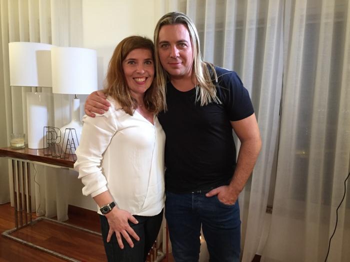 Daniela Azevedo e Rui Bandeira no making of do novo vídeo Só Deus Me Pode Ajudar