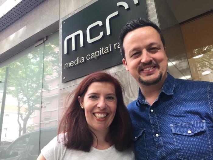 Daniela Azevedo e Miguel Gameiro por altura do lançamento do dueto com Cuca Roseta