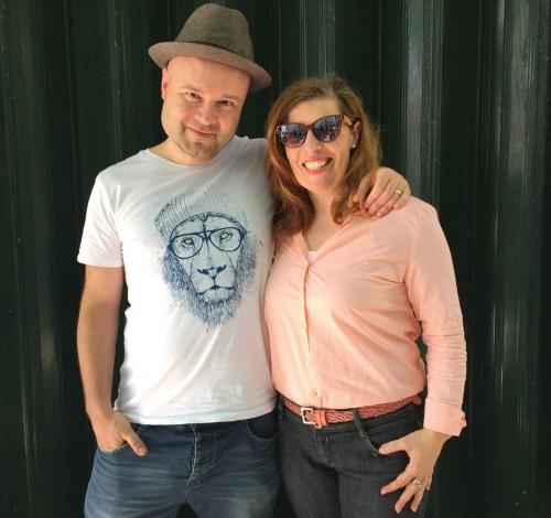 Mikkel Solnado e Daniela Azevedo aquando do lançamento do single O Teu Sol