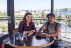 Daniela Azevedo e Tito Paris no Rio Maravilha, em Lisboa, em Junho de 2017