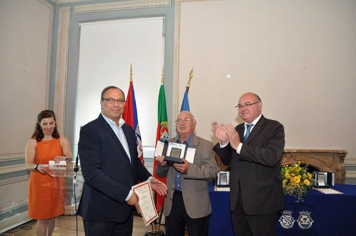 Daniela Azevedo na comemoração dos 20 anos de elevação a vila do Sobrealinho - cerimónia de entrega de medalhas de mérito a residentes ilustres em junho de 2017