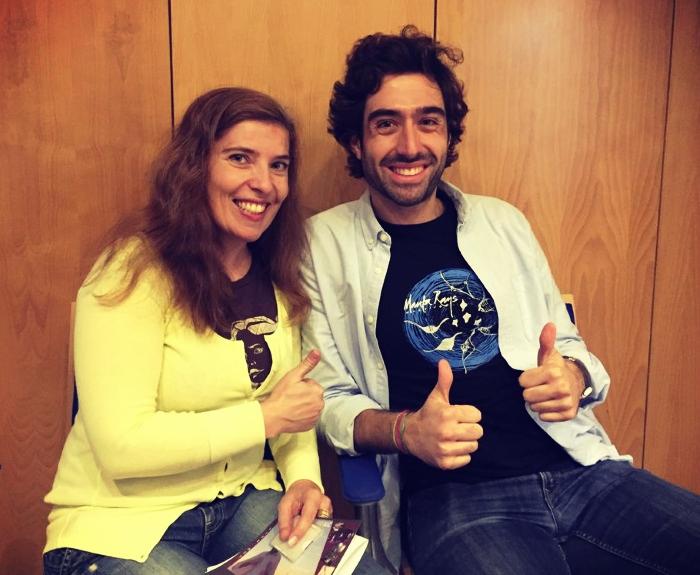 Daniela Azevedo e Pedro Vicente em Lisboa após o lançamento do álbum de estreia