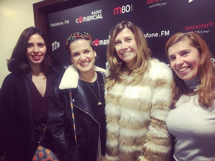 Joana Machado, Mariana Norton e Marta Hugon numa boa meia hora de conversa sobre jazz com Daniela Azevedo