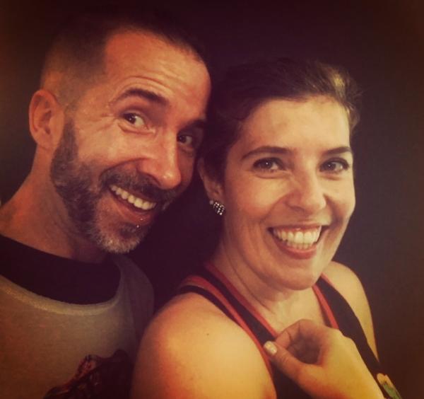 Pedro Ribeiro e Daniela Azevedo depois de uma aula de Zumba
