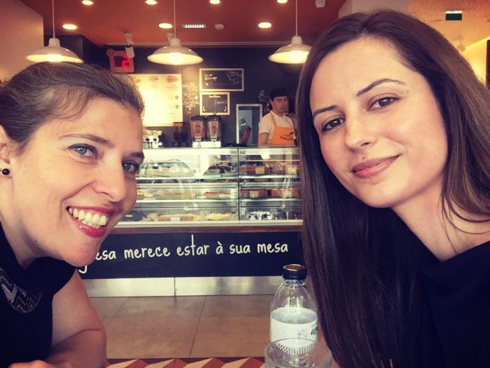 Daniela Azevedo e Rita Andrade antes do lançamento do EP de 2018
