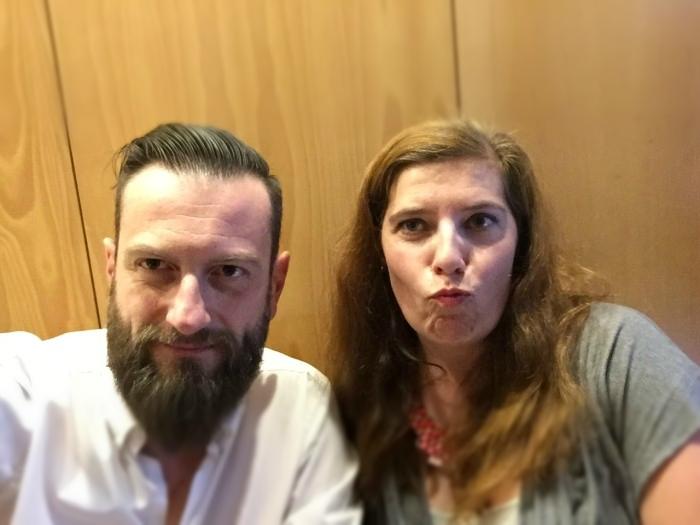 Sérgio Martins e Daniela Azevedo aquando do lançamento de Longe de Mim Parar