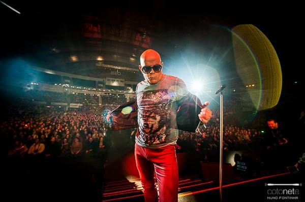 Pedro Abrunhosa no MEO Arena, em Lisboa, a 7 de fevereiro de 2015, fotografado por Nuno Fontinha