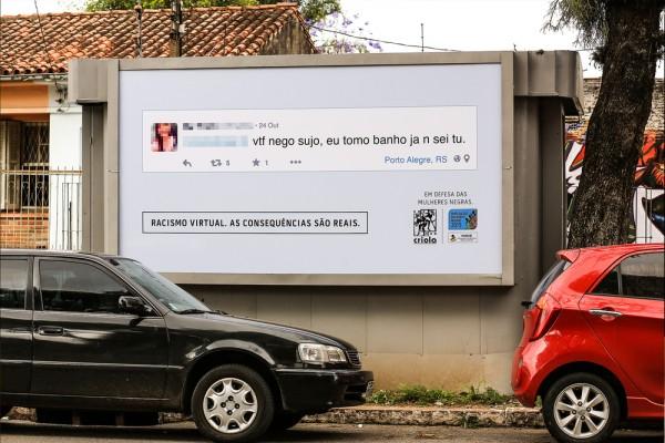 """Campanha """"Racismo Virtual Consequências Reais"""""""