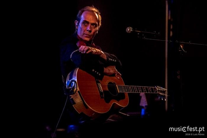 Peter Murphy na Aula Magna, em Lisboa, a 16 de maio de 2016, fotografados por Luís Flôres