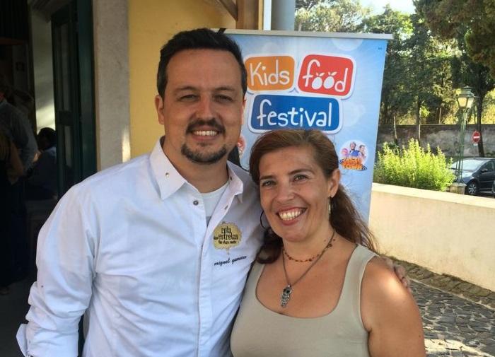 Miguel Gameiro e Daniela Azevedo no restaurante Realmente